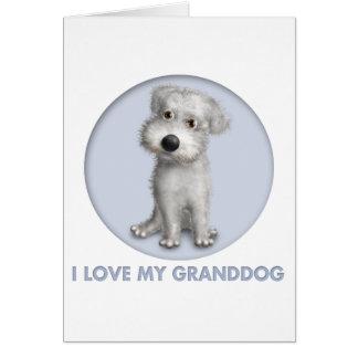 Schnoodle (White) Granddog Card