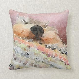 Schnoozing Schnauzer Throw Pillow