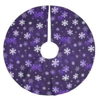 Schnowflakes púrpura oscuro falda para arbol de navidad de poliéster