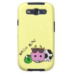 Schnozzle Cow Cash Cow Cartoon w/Money Bag Samsung Galaxy SIII Cases