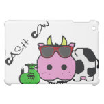 Schnozzle Cow Cash Cow Cartoon w/Money Bag Cover For The iPad Mini