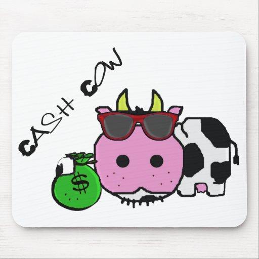 Schnozzle Cow Cash Cow Cartoon w/Money Bag Mouse Pad