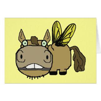 Schnozzle Horse Horsefly Cartoon Card