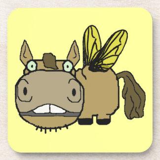 Schnozzle Horse Horsefly Cartoon Drink Coaster