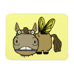 Schnozzle Horse Horsefly Cartoon Flexible Magnets