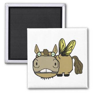 Schnozzle Horse Horsefly Cartoon Magnet
