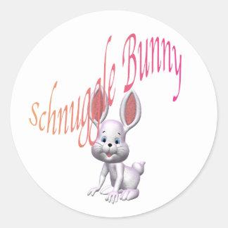 schnuggle.bunny pegatina redonda