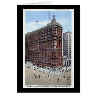 Schofield Building, Cleveland Ohio 1920s Vintage card