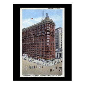 Schofield Building, Cleveland Ohio 1920s Vintage Postcards