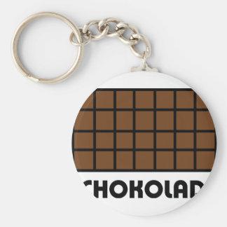 Schokolade icon basic round button keychain