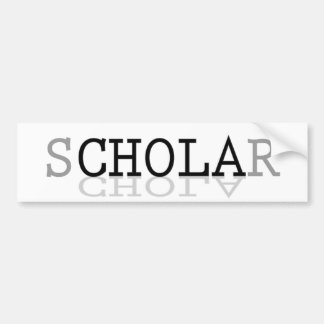 sCHOLAr Defying Stereotypes Bumper Sticker
