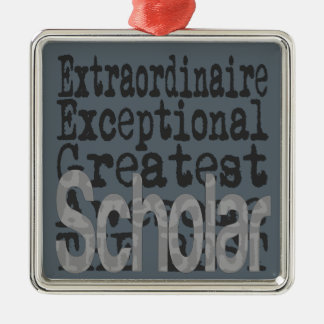 Scholar Extraordinaire Metal Ornament