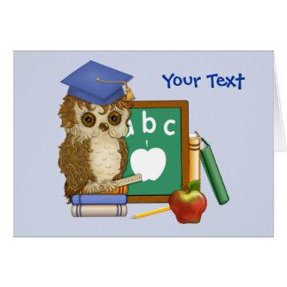 Scholar Owl Greeting Card