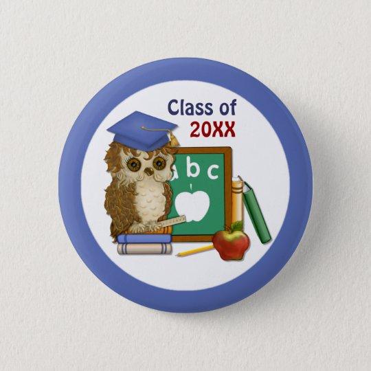Scholar Owl Graduation 2015 Pinback Button