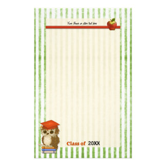 Scholar Owl Graduation -  Customize Stationery
