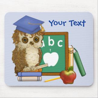 Scholar Owl Mouse Pad