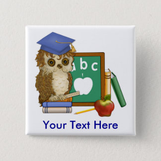 Scholar Owl Pinback Button