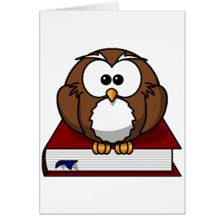 Scholarily Owl Greeting Cards