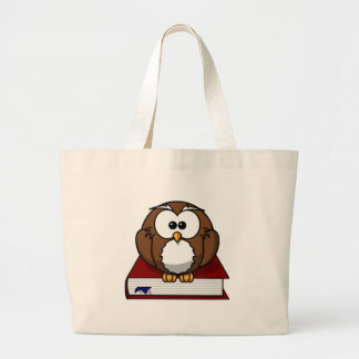 Scholarily Owl Large Tote Bag