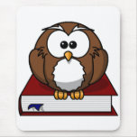 Scholarily Owl Mouse Pad
