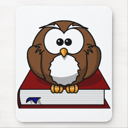 Scholarily Owl Mouse Pads