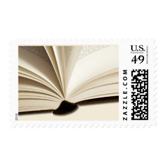 Scholarly Open Book Postage Stamps