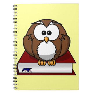 Scholarly Owl Spiral Notebook