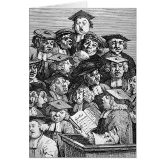 Scholars at a Lecture, 20th January 1736-37 Card
