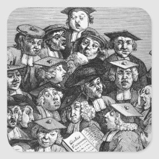 Scholars at a Lecture, 20th January 1736-37 Square Sticker