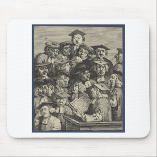 Scholars at a Lecture by William Hogarth Mouse Pad