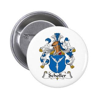 Scholler Family Crest Pinback Button