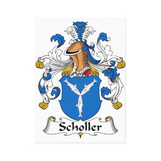 Scholler Family Crest Stretched Canvas Print