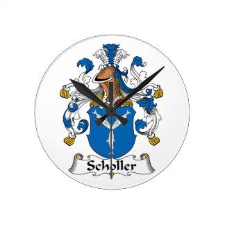 Scholler Family Crest Wall Clocks
