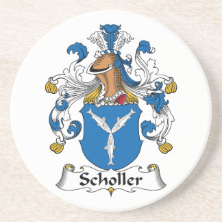 Scholler Family Crest Drink Coasters