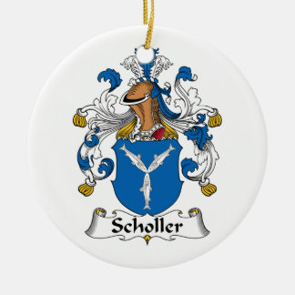 Scholler Family Crest Christmas Tree Ornaments