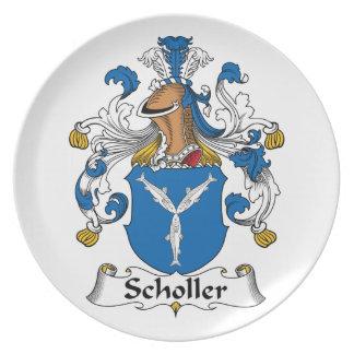 Scholler Family Crest Dinner Plates