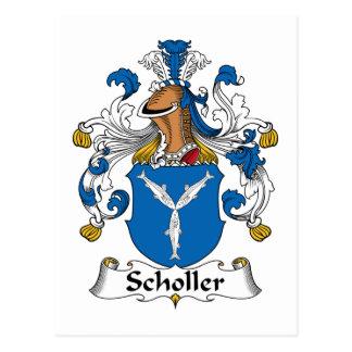 Scholler Family Crest Postcards