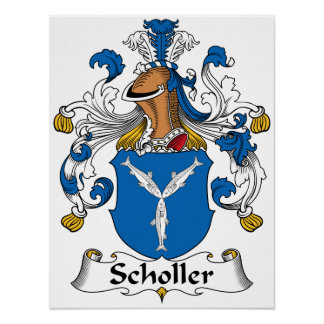 Scholler Family Crest Posters