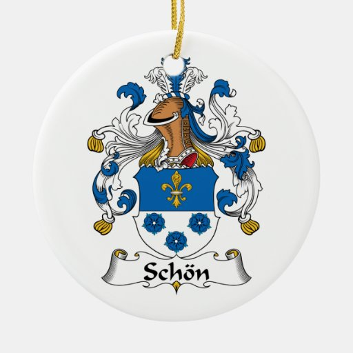 Schon Family Crest Christmas Tree Ornaments