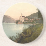 "Schonbuchel, Schneeberg, Austria Drink Coaster<br><div class=""desc"">A vintage image of Schonbuchel,  Schneeberg in Austria,  which was taken towards the end of the 19th century. The photograph shows the Schonbuchel Castle which is located in the town of Schonbuchel on the banks of the Danube River. Photograph courtesy of the LOC (LC-DIG-ppmsc-09203).</div>"