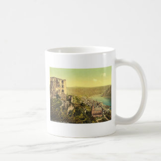 Schonburg and Oberwesel, the Rhine, Germany rare P Classic White Coffee Mug