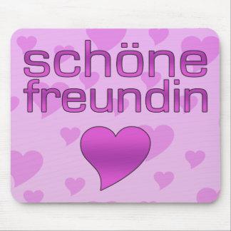 Schöne corazones rosados y púrpuras de Freundin Alfombrillas De Ratón