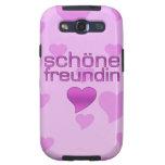Schöne corazones rosados y púrpuras de Freundin de Samsung Galaxy S3 Carcasas