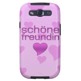 Schöne Freundin Pink & Purple Love Hearts Samsung Galaxy S3 Covers
