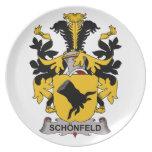 Schonfeld Family Crest Plates