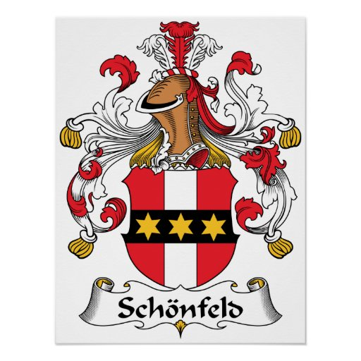 Schonfeld Family Crest Posters