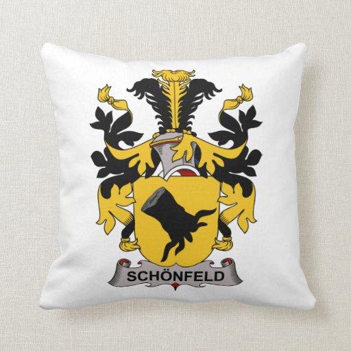 Schonfeld Family Crest Throw Pillow