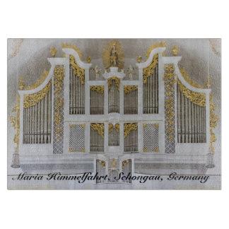 Schongau organ with title cutting board