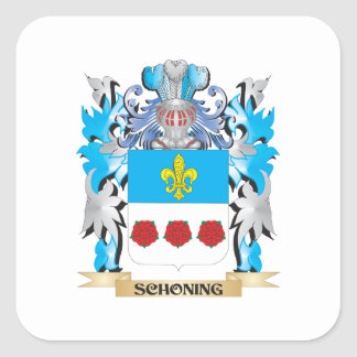 Schoning Coat of Arms - Family Crest Square Sticker