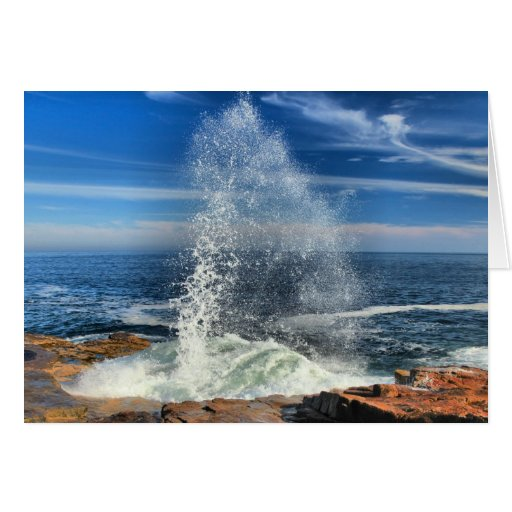 Schoodic Peninsula Geyser At Acadia National Park Card